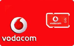NEW South Africa Vodacom Prepaid Sim Card with 500MB Data  *Ship From USA
