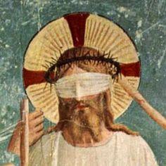 Fra Angelico, Christ mocked, detail, 1439-43.