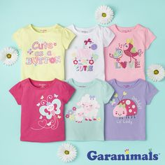 Baby girl graphic tees are the perfect combination of playful and casual.