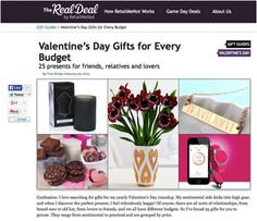 You wouldn't believe how it easy it is to find the perfect #ValentinesDay gift without having to spend and arm and a leg.  Both practical and sentimental, this list of essentials is just what you need in time for the holiday of #romance.   http://www.retailmenot.com/blog/valentines-day-gift-ideas.html #Shopping #gifts