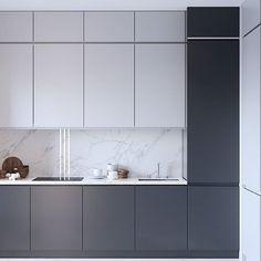 Kitchen Room Design, Condo Kitchen, Kitchen Cabinet Design, Modern Kitchen Design, Living Room Kitchen, Home Decor Kitchen, Interior Design Kitchen, Home Kitchens, Modern Kitchen Interiors
