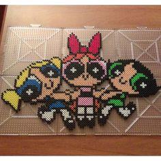 Powerpuff Girls perler beads by  jaysprites - Pattern: https://de.pinterest.com/pin/374291419010618310/