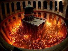 ✥ MIRACLE : Feu de l'Esprit Saint au Saint-Sépulcre (Jérusalem) ! ✥