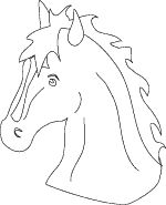 Print two horse heads, let kids color. Roll up newspaper and tape it into a stick and then cut out horse heads and tape/glue to each side. And you have a horse to ride :)