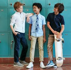 skate into dress code approved classics for a stylish school year.