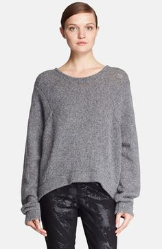 Free shipping and returns on Helmut Lang Oversize Wool Blend Sweater at Nordstrom.com. Peekaboo open stitches curving down the back elevate an oversized throw-and-go pullover knit with warm wool and luxurious camel hair.