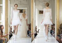 short lace wedding dress / French Wedding Style Blog /