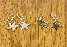 Handmade Silver Star Drop Earrings