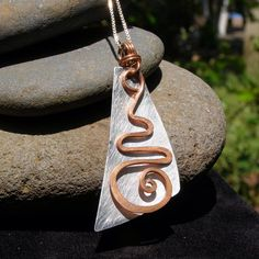 made to order RECYCLED COPPER SWIRL handmade necklace bead pendant by LaraOwensArt on Etsy https://www.etsy.com/listing/86734854/made-to-order-recycled-copper-swirl
