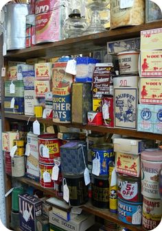 Vintage Tins -- not cookie jars but awesome nonetheless.