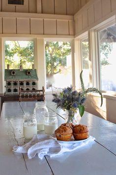 love the milk & muffins display