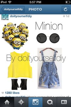 Minion Halloween costume DIY @Abbey Adique-Alarcon Adique-Alarcon Rey Weidman