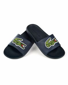 Chanclas LACOSTE ® Big Logo - Azul Marino | ENVIO GRATIS Logo Azul, Credit Card Transfer, Lacoste Shoes, Macedonia, Online Shopping Clothes, Flip Flops, Champions, Sandals, Big