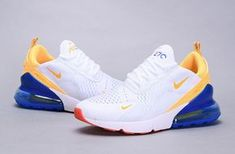 Nike Air Max 270 Flyknit Phillippines White / Yellow / Blue 105 Women's Men's Casual Shoes Nike Air Max 270 Flyknit Phillippines Weiß / Gelb / Blau 105 Damen Herren Freizeitschuhe Sneakers Fashion, Fashion Shoes, Shoes Sneakers, Women's Shoes, Mens Fashion, Shoes Jordans, Nike Fashion, Shoes Style, Fashion Outfits