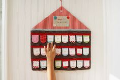 """Advent Calendar with numbers that """"tear"""" off, by nanaCompany, via Flickr"""