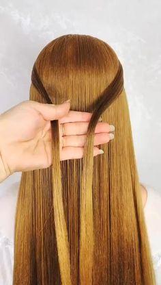 Bun Hairstyles For Long Hair, Braided Hairstyles, 1940s Hairstyles, Wedding Hairstyles, Hair Affair, Beautiful Long Hair, Grunge Hair, Hair Videos, Hair Designs