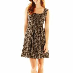 9 & Co.® Jacquard Fit-and-Flare Dress   found at @JCPenney