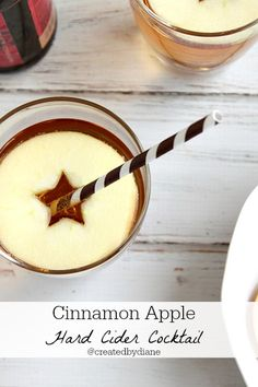 Cinnamon Apple Hard Cider Cocktail - Hard Cider, Fireball, Apple  (The presentation on this is awesome!)