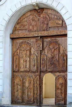 Cocos Monastery In Tulcea, Romania.Богато резбована...