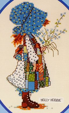 Arts And Crafts Hobbies Cross Stitch Baby, Counted Cross Stitch Patterns, Cross Stitch Designs, Cross Stitch Embroidery, Hand Embroidery, Hardanger Embroidery, Holly Hobbie, Chart Design, Fun Hobbies