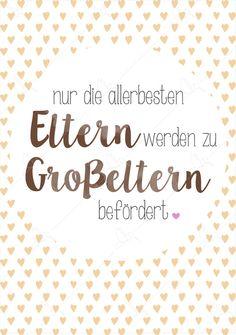 Kunstdruck für die Großeltern, Geschenkidee / cute gift idea for grandparents: art print made by Freistil via DaWanda.com