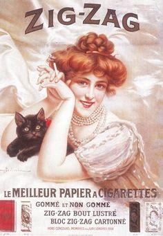 Papier à cigarettes Zig-Zag vintage ad
