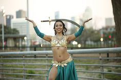 Sword Balancing near Downtown Houston Dance World, Sword, Houston, Bikinis, Swimwear, Oriental, Fashion, Bathing Suits, Moda