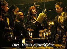 I don't know but I laughed hard seeing this when I watched the movie. - Jack Sparrow, Pirates of Rhe Caribbean. 12 Funny Animated GIF Flirting Quotes & Comebacks from Disney - @mobile9 #disney Johnny Depp