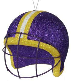 "4"" FOOTBALL HELMET ORNAMENT - LSU ALT. #lsu #football #helmet #craigbachman"
