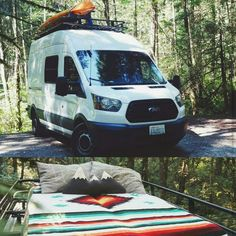 Ford Transit owners making good use of their #aluminess roof rack and ladder! Photo cred : Instagram @vannathetransit