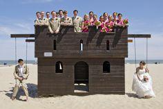 Hot Pink, Beach Themed Ocean City, MD Wedding by Kathleen Hertel Photography