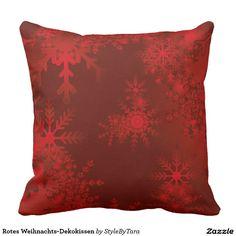 Rotes Weihnachts-Dekokissen Kissen