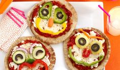 Getting children to design their own pizza toppings is a fun and easy way to introduce them to new veggies. Using colourful ingredients chopped up into different shapes and size, they could make their fave cartoon characters, re-create their fave hobby, think about the time of year or just make a silly face!
