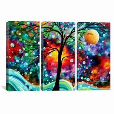 iCanvasART MDN2 3-Piece A Moment in Time by Megan Duncanson Canvas Print #ICanvasART