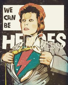 Bowie Comic Art by Steve Turner David Bowie Poster, David Bowie Art, Iman And David Bowie, Ziggy Stardust, Bowie Heroes, Heroes David Bowie Lyrics, David Bowie Quotes, Comic Art, The Thin White Duke