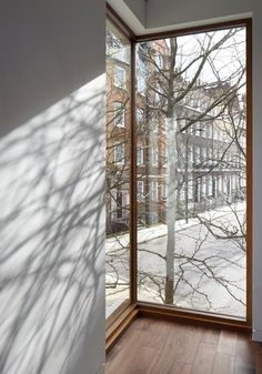 corner window with view