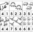 Dinosaur themed number clips for children learning to count 1-12. Children use clothes pins to select the correct answer.   *If you like this produ...
