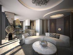 kaminholz lagern - wohnzimmer wohnwand mit stauraum | design ... - Innenarchitektur Design Modern Wohnzimmer