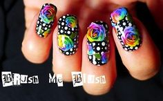 Rainbow-FLOWER-Rose-Blossom-Nail-Art-Water-SLIDE-Decal-Sticker-US-Seller