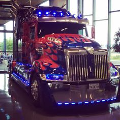 Optimus Prime lives in my office lobby now .... too cool