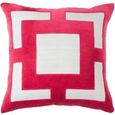 Panel Pink Cushion (£105) ❤ liked on Polyvore featuring home, home decor, throw pillows, pink throw pillows, inspirational throw pillows, geometric throw pillows, embroidered throw pillows and pink accent pillows