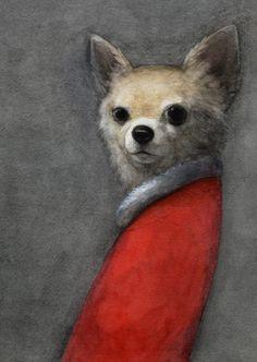 Illustration by Akitaka Ito Art And Illustration, Dachshund, Arte Hip Hop, Dog Art, Traditional Art, Pet Portraits, Painting & Drawing, Illustrators, Art Photography