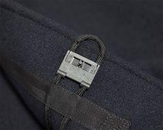 Outlier - Liberated Wool Dufflecoat (flat, underneath fidlock detail)