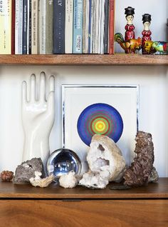 Bohemian Homes: Crystals and books - Bohemian Homes  check out www.thebohemianinme.com for more bohemian inspiration