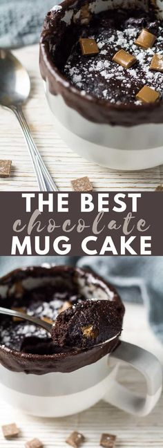 Microwave Chocolate Mug Cake Microwave Chocolate Mug Cake - A deliciously moist and fluffy chocolate cake that is made in the microwave. It's sweet, loaded with flavour, and is cooked in under 2 minutes! Fluffy Chocolate Cake, Microwave Chocolate Mug Cake, Nutella Mug Cake, Mug Cake Microwave, Chocolate Mug Cakes, Best Chocolate, Chocolate Recipes, Chocolate Hazelnut, Microwave Desserts