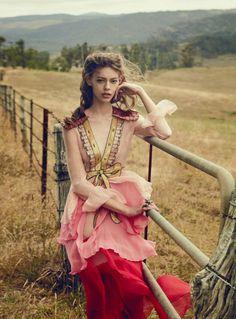 Ondria in Gucci Dress for Vogue Australia March 2016