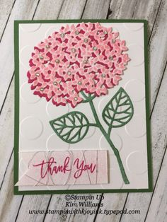 "Stampin' Up! Thoughful Branches ""In the Pink""- Stampin With Kjoyink"
