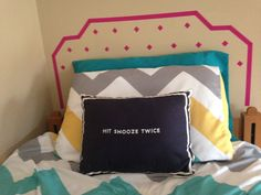 Use washi tape to make a faux headboard