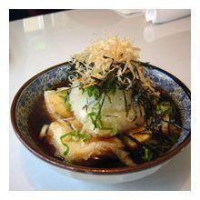 So hard to find agedashi tofu. Could eat this every day.