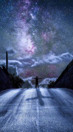 Abrazo el infinito.